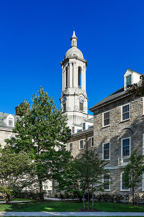 Old Main building on the campus of Penn State University, State College, Pennsylvania, USA