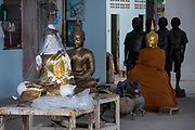 Boonchoo Fine Arts foundry in Bang Khae on the outskirts of western bangkok has been producing finely sculpted bronze cast statues for temples and monasteries for two generations.