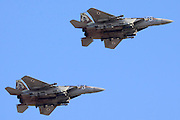 Two Israeli Air force F-15I Fighter in flight