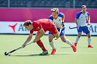 ANTWERPEN -  Scotland-England . Belfius Eurohockey Championship (men) hockey.  Harry Martin (Eng)  COPYRIGHT KOEN SUYK