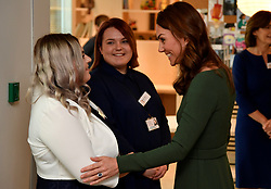 The Duchess of Cambridge (right) at the Anna Freud Centre in London where she opened their new building, The Kantor Centre of Excellence.