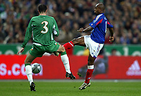 Fotball<br /> VM-kvalifisering<br /> Frankrike v Irland<br /> 9. oktober 2004<br /> Foto: Digitalsport<br /> NORWAY ONLY<br /> SYLVAIN WILTORD (FRA) / JOHN O'SHEA (IRE)