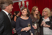 RICHARD MADDELEY; CHERIE BLAIR; KATHRYN BLAIR; JUDY FINNIGAN; , Pre -drinks at the St. Martin's Lane Hotel before a performance of the English National Ballet's Nutcracker: London Coliseum.12 December 2013
