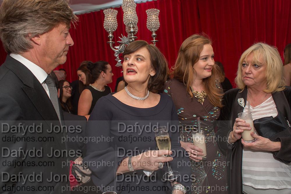 RICHARD MADDELEY; CHERIE BLAIR; KATHRYN BLAIR; JUDY FINNIGAN; , Pre -drinks at the St. Martin's Lane Hotel before a performance of the English National Ballet's Nutcracker: London Coliseum.12 December 2013