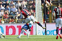 """Foto LaPresse/Filippo Rubin<br /> 27/04/2019 Bologna (Italia)<br /> Sport Calcio<br /> Bologna - Empoli - Campionato di calcio Serie A 2018/2019 - Stadio """"Renato Dall'Ara""""<br /> Nella foto: GOAL BOLOGNA RICCARDO ORSOLINI (BOLOGNA F.C.)<br /> <br /> Photo LaPresse/Filippo Rubin<br /> April 27, 2019 Bologna (Italy)<br /> Sport Soccer<br /> Bologna vs Empoli - Italian Football Championship League A 2017/2018 - """"Renato Dall'Ara"""" Stadium <br /> In the pic: GOAL BOLOGNA RICCARDO ORSOLINI (BOLOGNA F.C.)"""