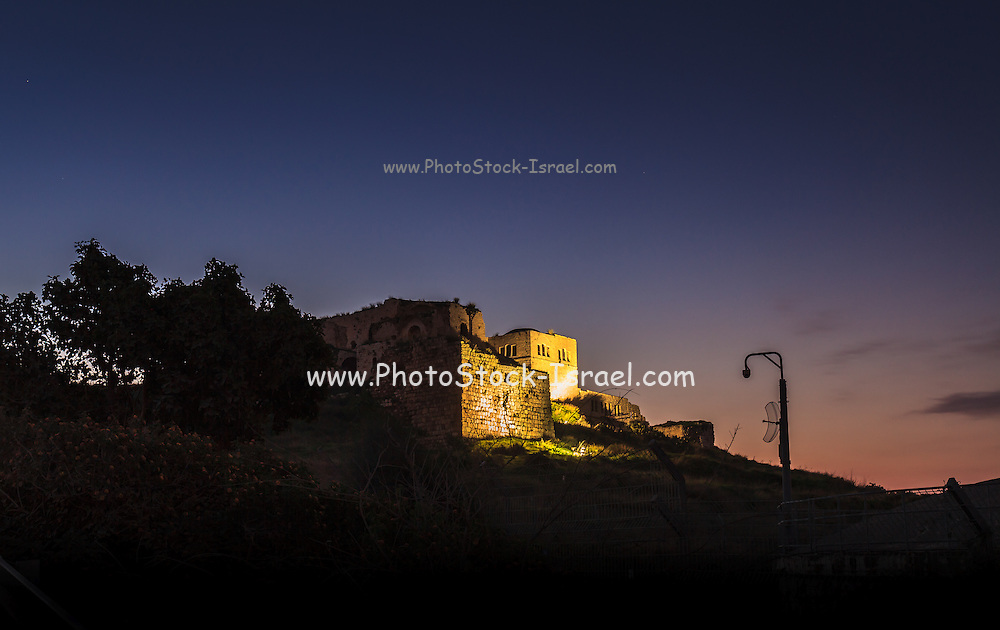 Dawn in Rosh Haayin, Israel Antipatris fortress