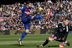 December 2, 2017 - Barcelona, Catalonia, Spain - Luis Suarez during the spanih league match between FC Barcelona and RC Celta de Vigo at the Camp Nou Stadium in Barcelona, Catalonia, Spain  (Credit Image: © Miquel Llop/NurPhoto via ZUMA Press)