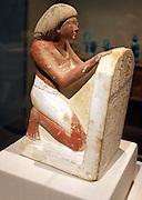 Statue of Roy. New Kingdom, reign of Amenhotep 11 (ca 1420 B.C). Limestone paint.