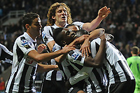 Football - Premier League -  Newcastle United vs. West Bromwich Albion<br /> Newcastle celebrate after getting the winning goal at St James' Park.