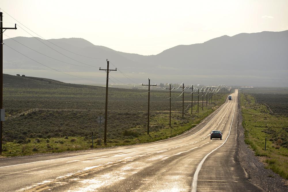 Highway 36 in the Great Basin region of Utah.