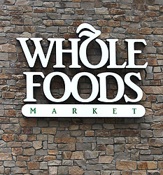 June 16, 2017 - New York, New York, U.S. - A close-up view of Whole Foods sign outside the Upper East Side 87th Street Whole Foods location. Amazon announced it planned to purchase Whole Foods for $13.4 billion. (Credit Image: © Nancy Kaszerman via ZUMA Wire)