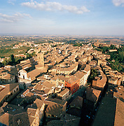City view from Mangia Tower, Siena, Italy