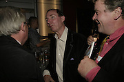 DOMINIC HARROD, A.N.WILSON AND JULIAN BANNERMAN, The John Betjeman Variety Show, sponsored by Shell, in aid of Sane. In the Presnece of the Prince of Wales and the Duchess of Cornwall. Prince of Wales theatre. London. 10 September 2006. ONE TIME USE ONLY - DO NOT ARCHIVE  © Copyright Photograph by Dafydd Jones 66 Stockwell Park Rd. London SW9 0DA Tel 020 7733 0108 www.dafjones.com