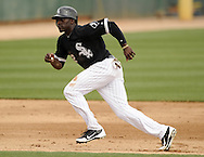 GLENDALE, AZ - MARCH 05:  Jared Mitchell #82 of the Chicago White Sox runs the bases against the Los Angeles Dodgers on March 5, 2012 at The Ballpark at Camelback Ranch in Glendale, Arizona. The Dodgers defeated the White Sox 6-4.  (Photo by Ron Vesely)  Subject:  Jared Mitchell