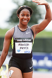 Samsung Diamond League adidas Grand Prix track & field; women's 100 meters, Shelly-Ann Fraser-Pryce, JAM, winner,