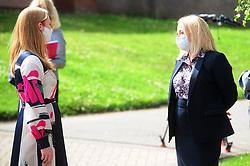 Lochgelly High School Exam results<br /> <br /> Shirley-Anne Somerville chats with Lochgelly High School Head teacher Debbie Aitkin<br /> <br /> (c) David Wardle | Edinburgh Elite media