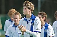 GROENEKAN - Rutger Marres van hockeyclub Voordaan tijdens de hoofdklasse hockeywedstrijd tussen de mannen van Voordaan en Bloemendaal (3-7). FOTO KOEN SUYK