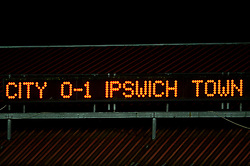 Final result, Bristol City U18s 0 - Ipswich Town U18s 1 - Photo mandatory by-line: Rogan Thomson/JMP - Tel: Mobile: 07966 386802 - 04/12/2012 - SPORT - FOOTBALL - Ashton Gate Stadium - Bristol. Bristol City U18 v Ipswich Town U18 - FA Youth Cup Third Round Proper.
