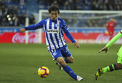 February 11, 2019 - Vitoria, Alava, Spain - Inui of Alaves in action during La Liga Spanish championship, , football match between Alaves and Levante, February 11th, in Mendizorroza Stadium in Vitoria, Spain. (Credit Image: © AFP7 via ZUMA Wire)