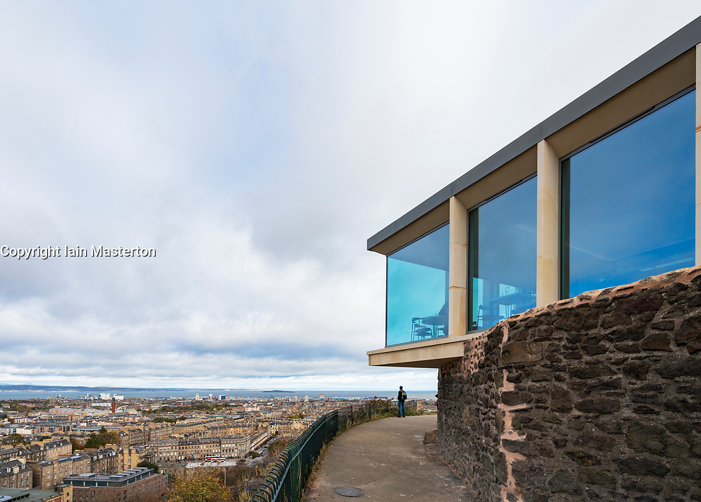 New restaurant building part of the new Collective Gallery project on Calton Hill in Edinburgh, Scotland UK. Opening November 2018.