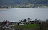 The second syttende mai or Nasjonaldagen (Constitution Day)  parade makes its way to the Austrheim school above Sandane, Norway, on May 17, 2013.  (© 2013 Cindi Christie)