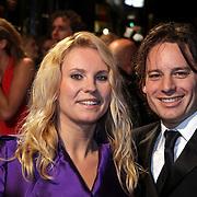 NLD/Amsterdam/20081013 - Premiere Bride Flight, Annelieke Bouwers en partner Cas Jansen