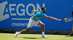 Great Britain's Jame Ward in action during day two of the 2017 AEGON Championships at The Queen's Club, London.