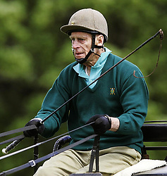 The Duke of Edinburgh with his Fell pony team taking part in the 2006 Hopetoun estate horse driving trials at two day event taking place near Edinburgh.