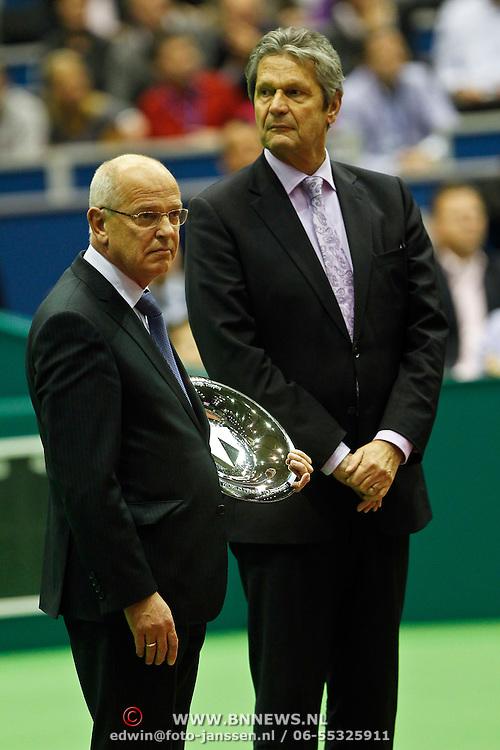 NLD/Rotterdam/20100214 - ABN - AMRO tennistoernooi 2010, finale, Gerrit Zalm