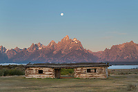 Historic Cunningham Ranch cabin, Grand Teton National Park Wyoming