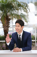 Yu Junsang at the DA-REUN NA-RA-E-SUH (IN ANOTHER COUNTRY) film photocall at the 65th Cannes Film Festival. Monday 21st May 2012 in Cannes Film Festival, France.