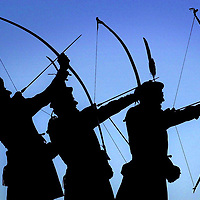 The Royal Company of Archers,the Queen`s Bodyguard in Scotland.Photograph David Cheskin.