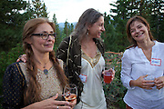 """At a private home in Truckee (Lake Tahoe) CA, for a fundraiser dinner for the Squaw Valley Institute: A Farm to Table Dinner with Peter Menzel & Faith D'Aluisio and a group of premier local chefs,including Elsa Corrigan from Mamasake, Chef Ben """"Wyatt"""" Dufresne from PlumpJack Cafe, Chad Shrewsbury from Six Peaks Grille, Douglas Dale of Wolfdale's, Santa Cruz Mountain Brewing Company, Farrier Wines and Donum Estate wines for a spectacular dining event that pays homage to our homegrown businesses, farmers and food leaders, while giving us """"food for thought"""" about our own daily dietsthrough theperspective ofthose around the world."""