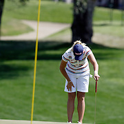 RANCHO MIRAGE, CA, April 1, 2007:  Suzann Petersen can't believe her meltdown during the final round where she gave up a four stroke lead with four holes to play at the Kraft Nabisco Championship.