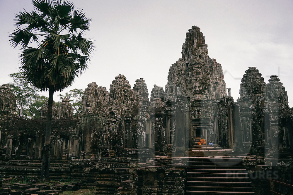Architecture of Bayon in Angkor Wat temples complex, Siem Reap, Cambodia, Southeast Asia