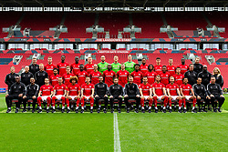 Bristol City main squad photo (in Pro DIrect trainers.)<br /> <br /> Front Row L-R, Kalifa Cisse, Scott Murray, Adam Nagy, Jack Hunt, Han-Noah Massengo, Josh Brownhill, Assistant Head Coach Jamie McAllister, Head Coach Lee Johnson, Assistant Head Coach Dean Holden, Bailey Wright, Nathan Baker, Andi Weimann, Korey Smith, Goalkeeping Coach Pat Mountain and Brian Tinnion.<br /> <br /> Row 2 L-R, Andrew Proctor, Jon Williams, ,Sam Stanton, Jay Dasilva, Sammie Szmodics, Saikou Janneh, Pedro Pereira, Benik Afobe, Tomas Kalas, Antoine Semenyo, Kasey Palmer, Niclas Eliasson, Liam Walsh, Andy Rolls, Derrick Bonsu and Gill Holt.<br /> <br /> Back Row L-R, Paddy Orme, Marley Watkins, ,Tyreeq Bakinson, Famara Diedhiou, Taylor Moore, Niki Maenpaa, Daniel Bentley, Rene Gilmartin, Ashley Williams, Liam Walsh, Tommy Rowe, Hakeeb Adelakun and Luke Coles.<br /> <br />  - Rogan/JMP - 28/08/2019 - FOOTBALL - Ashton Gate Stadium - Bristol, England.