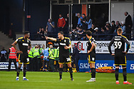 The Assistant Referee gets injured and is stretchered off during the EFL Sky Bet League 1 match between Luton Town and AFC Wimbledon at Kenilworth Road, Luton, England on 23 April 2019.