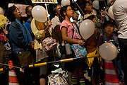 Anti Nuclear protestors and children at the Friday night protests around the parliament building in Nagatacho, Tokyo, Japan Friday October 12th 2012