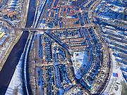 Nederland, Noord-Holland, Amsterdam, 13-02-2021; Amsterdam-Noord, Vogelbuurt met Spreeuwenpark en links Noordhollandsch Kanaal. Rechts Meeuwenlaan.<br /> Amsterdam-Noord, Vogelbuurt with Spreeuwenpark and Noordhollandsch Kanaal on the left. Right Meeuwenlaan.<br /> luchtfoto (toeslag op standaard tarieven);<br /> aerial photo (additional fee required)<br /> copyright © 2021 foto/photo Siebe Swart