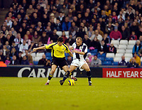 Photo: Leigh Quinnell.<br /> West Bromwich Albion v Manchester City. The Barclays Premiership. 10/12/2005. Man Citys Joey Barton battels with West Broms Ronnie Wallwork.