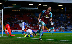 Burnley's Robbie Brady celebrates his goal during the Carabao Cup, Second Round match at Ewood Park, Blackburn.