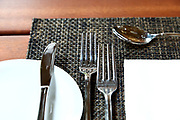 forks, knife, spoon on the table