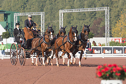 Glenn Geerts, (BEL), Antonio, Ozora Rangos, Red, Scampolo 49, Watapatja - Driving dressage - Alltech FEI World Equestrian Games™ 2014 - Normandy, France.<br /> © Hippo Foto Team - Dirk Caremans<br /> 04/09/14