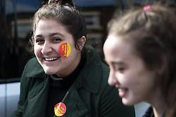 © Licensed to London News Pictures . 19/02/2017. Stoke-on-Trent, UK. Labour Party activists at the Labour Party constituency bases on Garth Street in Stoke . Labour Shadow Chancellor John McDonnell joins Gareth Snell - the party's candidate for the seat of Stoke-on-Trent Central , in the by-election campaign . Photo credit: Joel Goodman/LNP