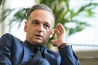 24 JUL 2020, BERLIN/GERMANY:<br /> Heiko Maas, SPD, Bundesaussenminister, waehrend einem Interview, in seinem Buero, Auswaertiges Amt<br /> IMAGE: 20200724-01-043<br /> KEYWORDS: Buero