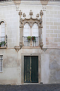 beautiful house facade evora alentejo portugal