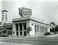 1956 Hollywood Savings office at Hollywood Blvd. & Sycamore St.
