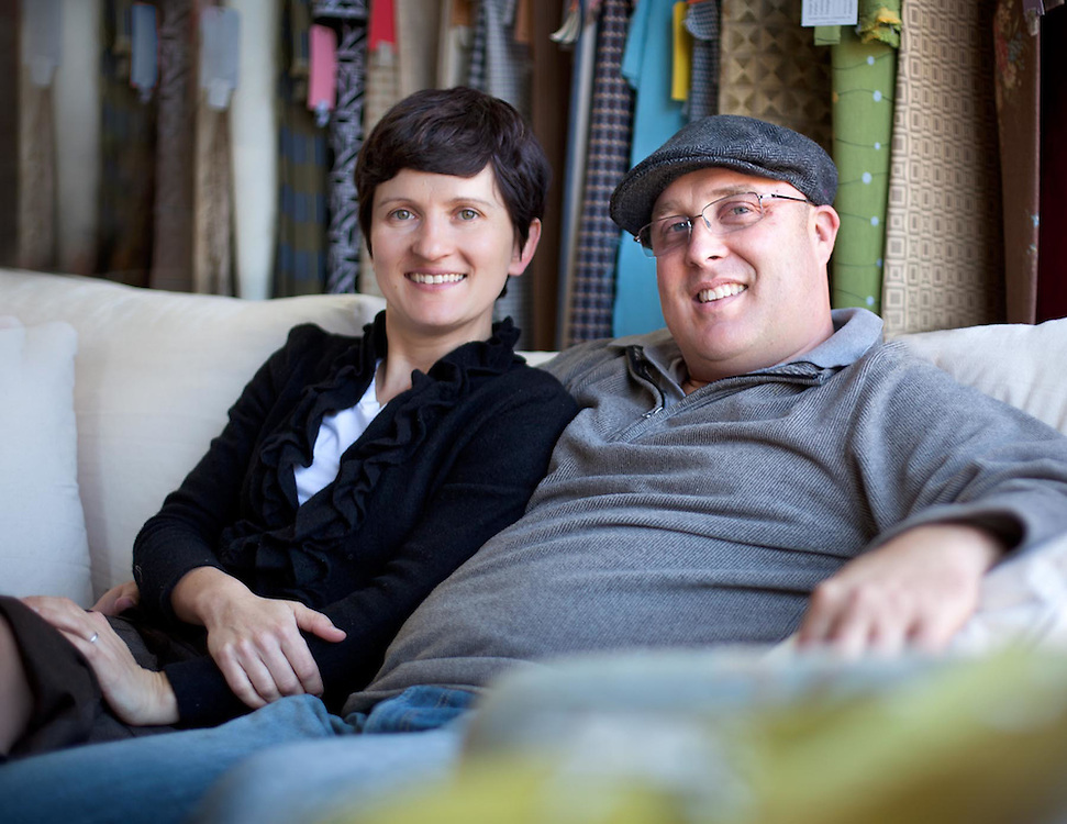 Ewa & James Powell. Owners of Modern Fabrics in the Southend of Charlotte.