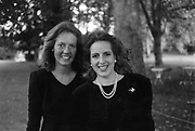 Alexandra Orchard and Geraldine de Wouters d'Oplinter at Hurlingham Club Drinks 8/9/1987 ONE TIME USE ONLY - DO NOT ARCHIVE  © Copyright Photograph by Dafydd Jones 66 Stockwell Park Rd. London SW9 0DA Tel 020 7733 0108 www.dafjones.com