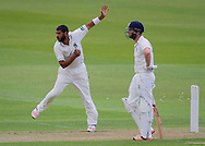 Jeetan Patel (Warwickshire County Cricket Club) in action during the LV County Championship Div 1 match between Durham County Cricket Club and Warwickshire County Cricket Club at the Emirates Durham ICG Ground, Chester-le-Street, United Kingdom on 12 July 2015. Photo by George Ledger.